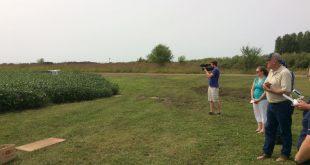 Green farm field.