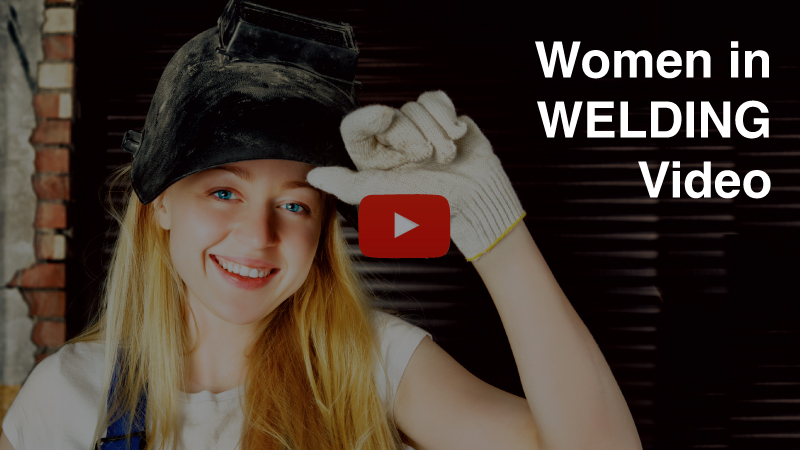 women welding video