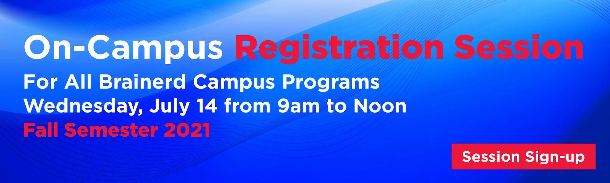 Fall Semester Registration July14
