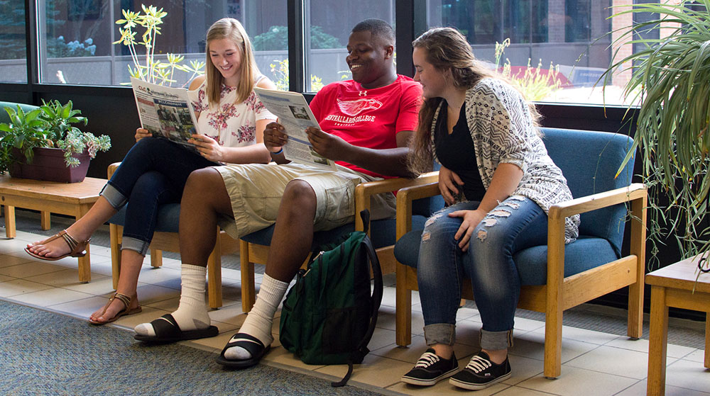 students sitting reading