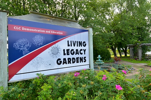 living legacy gardens sign