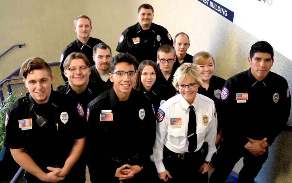 2019 Central Lakes College security team photo.