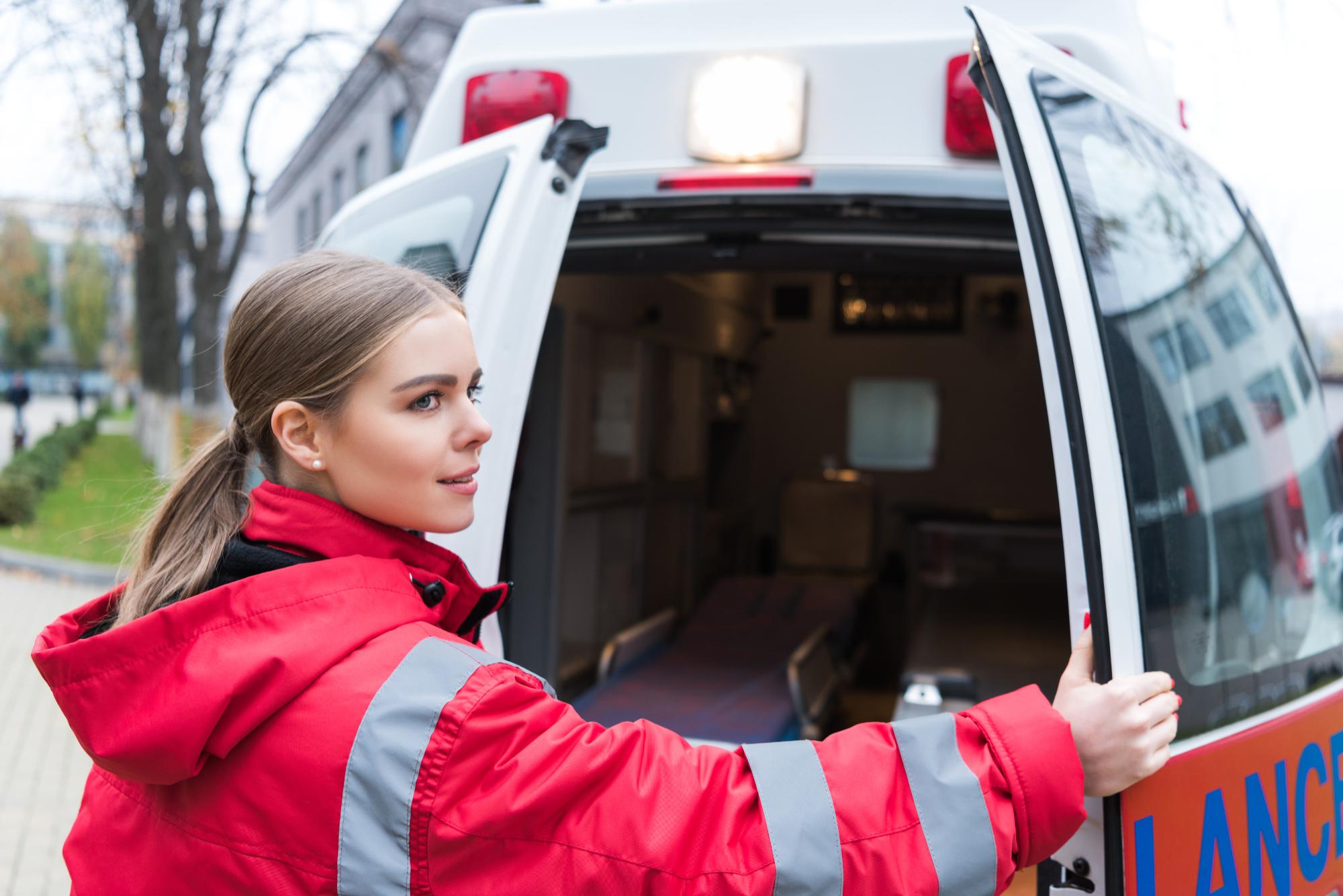 emt paramedic by ambulance